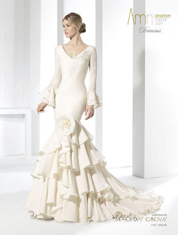 Vestido novia de flamenca