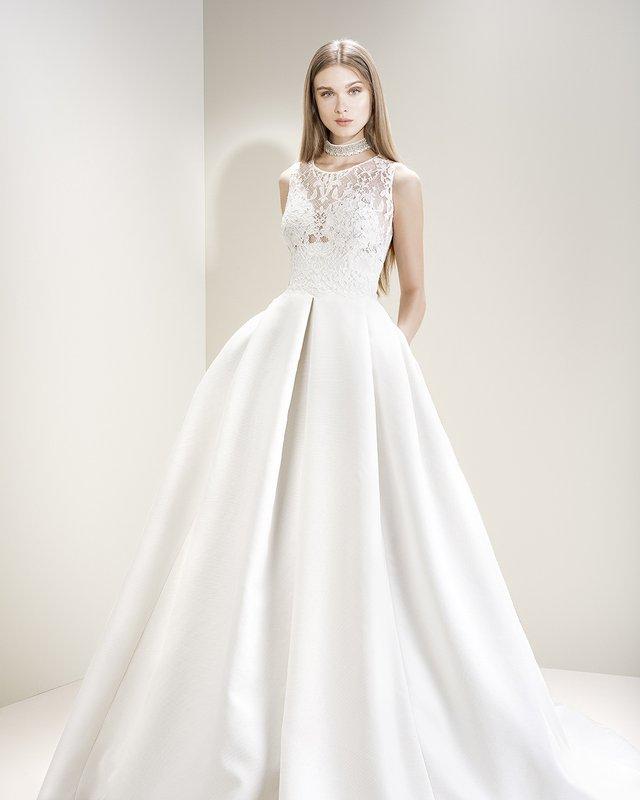 vestido de novia de jesús peiró 7008, falda de seda natural - modena