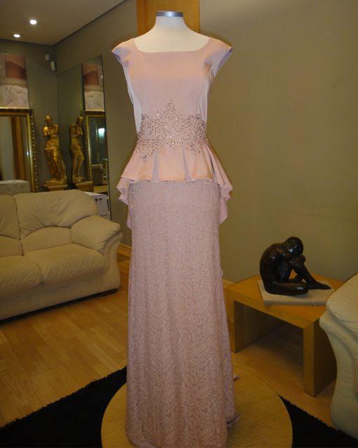 e1b0a8f84 Vestido largo de fiesta Modelo 619.20123 de Evassé. largo-evasse-rosa