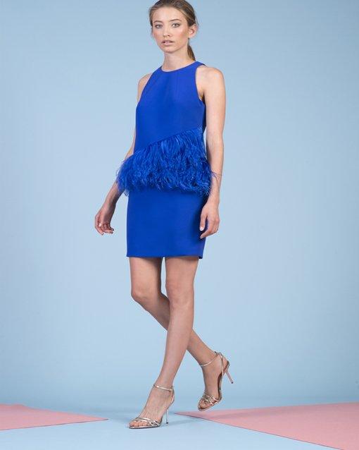 Moskada Modena Novias Vestido De Azul BEqwWvf