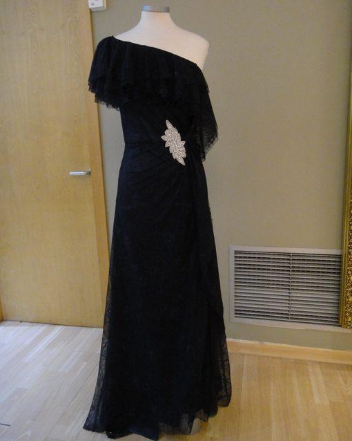 6140ca1e2 Vestido largo de boda en encaje Modelo 619.20500. azul.marino-evasse