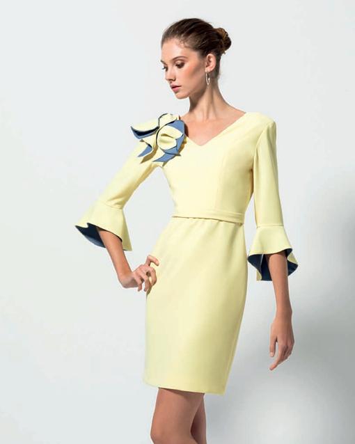 415478e27 Vestido corto de ceremonia Modelo 519.08008 de Evassé - Modena novias
