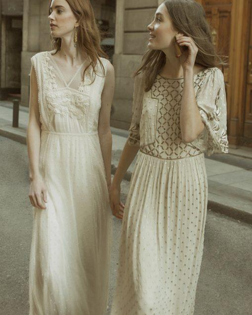 vestido de plumeti de intropia - modena novias